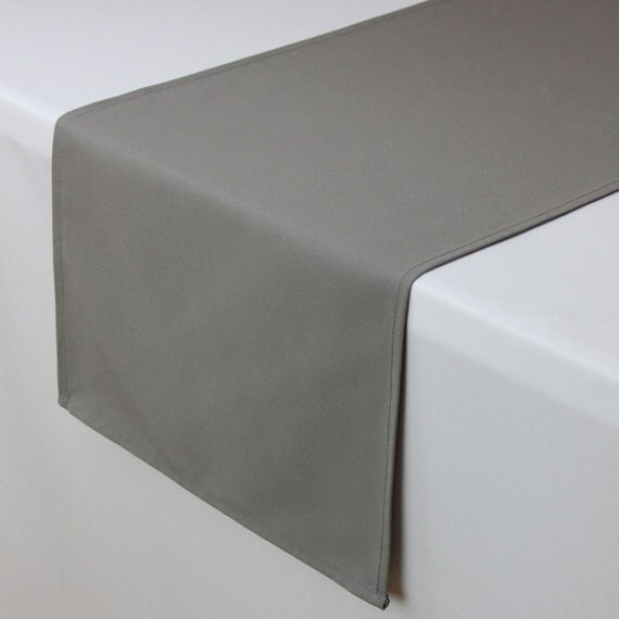 14 x 108 inches gray table runner matte gray table by for 108 inch table runners