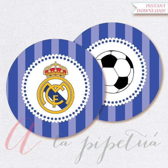 Real madrid printables printable soccer centerpiece real - Real madrid decorations ...