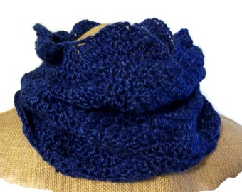 MADE TO ORDER Voyager Outlander scalloped cowl scarf wrap
