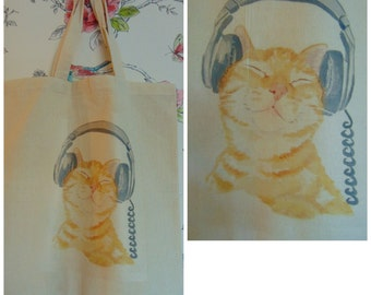 Animals printed canvas/cotton bags