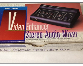 Archer Video Enhancer Stereo Audio Mixer  15-1961 NOS in Original Box w Instructions Studio Video Audio Equipment with Free Shipping!