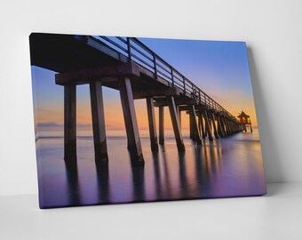 Naples Pier Panoramic III by Moises Levy. Gallery Wrapped Canvas Print