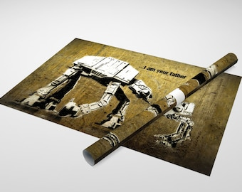 Banksy - I am Your Father (Star Wars) Archival Canvas Print