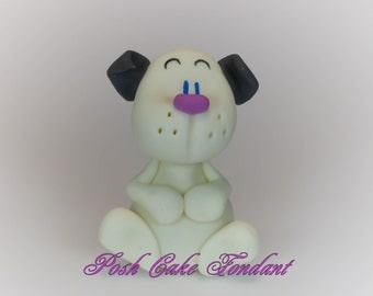 4 pieces Fondant Dogs Cake and Cupcake Topper by Cupcake