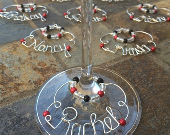 Book Club Gifts - Personalized Wine Charms (Curvaceous)