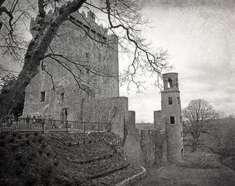 Ireland Photography, Blarney Castle, Black and White, Irish Castle, Ireland Print, Cork, Ireland, Irish Decor, Travel Photo, Wall Art