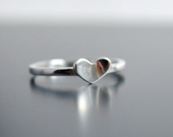 Sale! Sterling Silver Adjustable Heart Ring