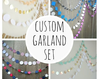 Custom garland set, custom garland, wedding garland, photography backdrop, personalized, customized, custom garland, paper garland