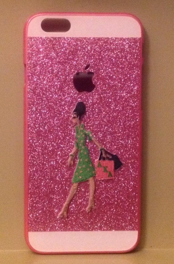 Alpha Kappa Alpha Pink iPhone 6 Bling Apple Case
