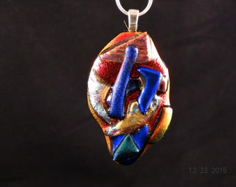Handcrafted, Dichroic, Multi Color, Fused Glass, Dichroic Fused Glass. Glass Art,