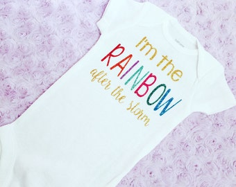 Rainbow baby shirt. Rainbow baby. Baby rainbow. Rainbow after storm.
