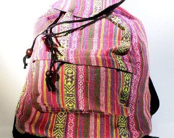 Backpack, cotton, Ethno  - 4345