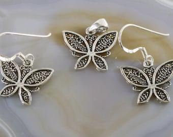 Butterflies, jewelery set