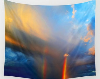 Somewhere Over The Rainbow Tapestry  (Indoor/Outdoor)  Art/Wall Hanging/Picture/Tapestries/Light Weight/Home Decor