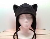 Pussy Hat - Cat Hat - Cat Ears - Cat Ear Hat - Black Cat Hat - Kitty Cat Hat - Cat Fleece Hat - Cat Aviator Hat - Earflap Hat - Cat Costume