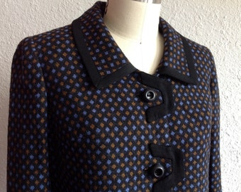 1950s black wool jacket