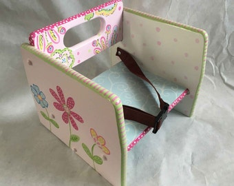 kids booster seat, hand painted child's booster seat, hand painted kids furniture, high chairs