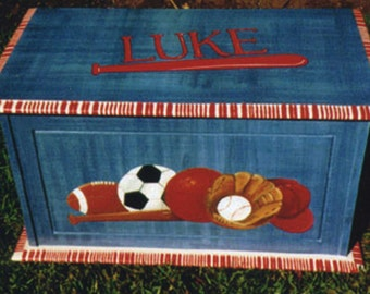hand painted kids furniture, Sports toy box