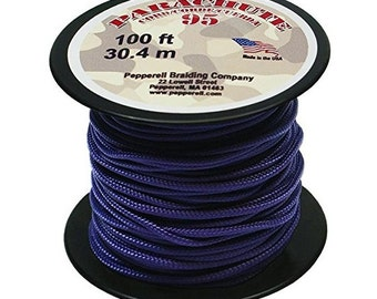 Purple Parachute Cord, 1.9mm, Parachute Cording, 100-Feet