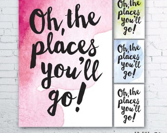 Items Similar To Oh The Places You Ll Go Dr Seuss