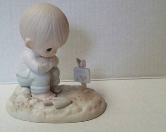 "Vintage Precious Moments Figurine ""In His Time"" 1987 Collectibles Figurines Knick Knacks Enesco Porcelain"
