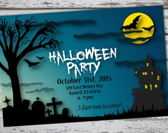 HALLOWEEN Party Invitations - Printed