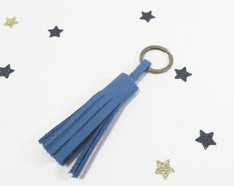 """Key chain """"Marcelle"""" blue tassel"""