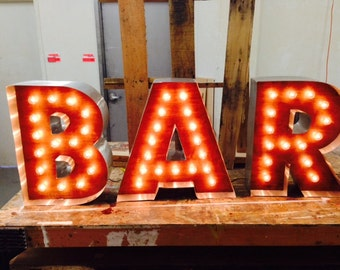 Wood Letters with Lights, Custom Made Marquee Letters