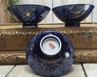 Japanese Rice Bowls - Chinese Rice Bowls, japanese bowl, asian rice bowls, porcelain bowls, Oriental Rice Bowls, Blue Rice Bowls, Soup Bowls