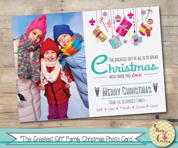 photo christmas card christmas gift printable family christmas