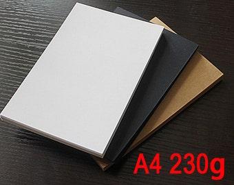 230g of A4 kraft paper , kraft display card , blank kraft cards TZ177