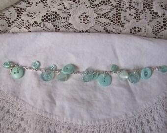Fifty shades of Aqua...Charm Bracelet