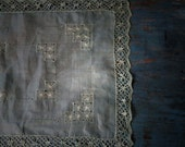 Hand Dyed Silk Organza Placemat Doily Sage Green