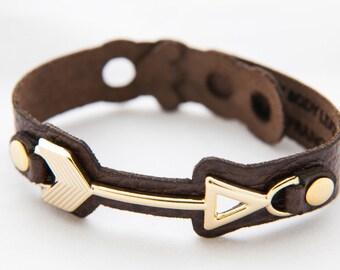 Arrow bracelet.  Arrow leather bracelet.  Leather bracelet.