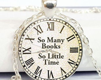 BOOK NECKLACE so many books so little time