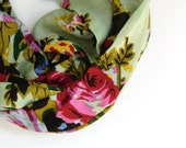 Women's Lightweight Floral Patterned Infinity Scarf- Everyday Pitter Patter