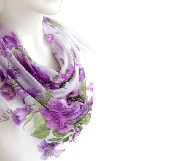 large square scarf lavender scarves gift for by