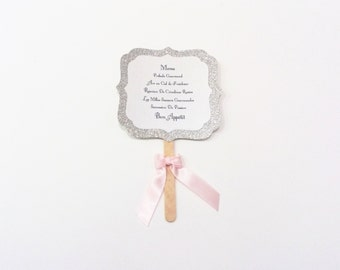 Wedding Menu / baptism princess theme