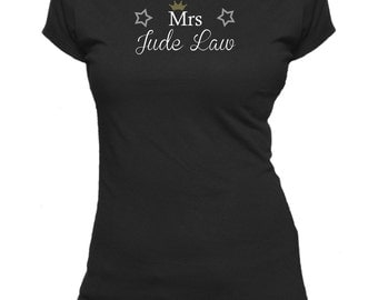 Mrs Jude Law. Ladies fitted t-shirt.