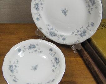 Johann Haviland - Blue Garland - Berry Bowl and Dessert Plate - Bavaria, Germany