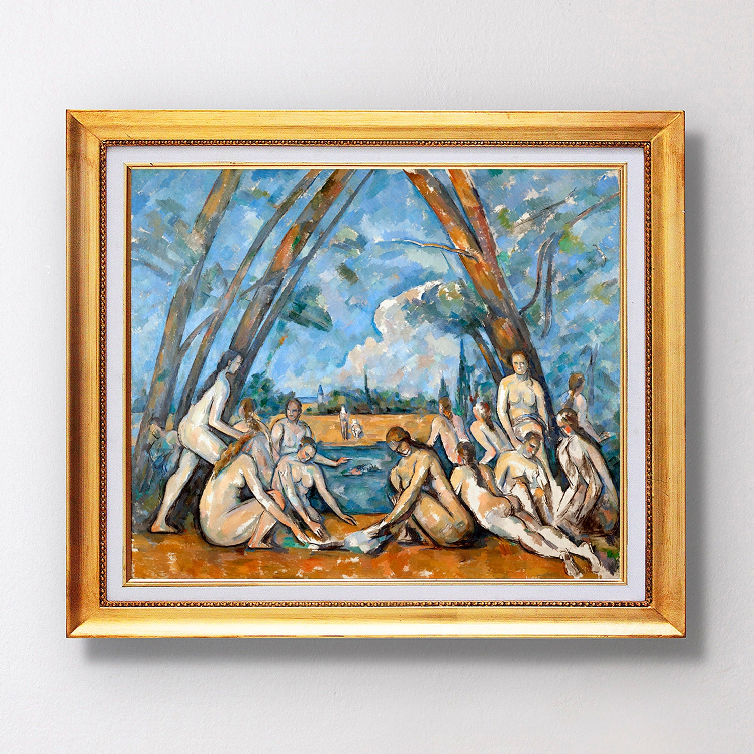 Paul cezanne the large bathers 1906 fine art glic e for Design your own bathers