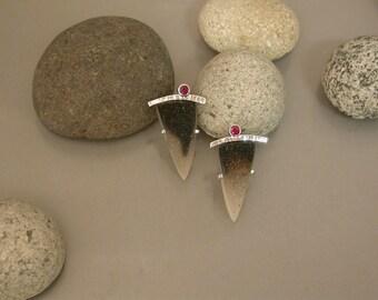 Druzy and Ruby earrings