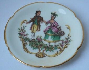 vintage Limoges porcelain small miniature decorative plate