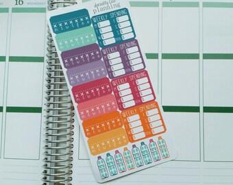 Habit Tracker Stickers for Erin Condren Life Planner (ECLP)