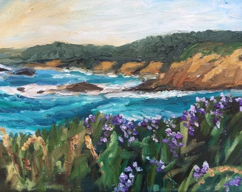 "California Coast 2, 8x10"" Original Oil Painting"