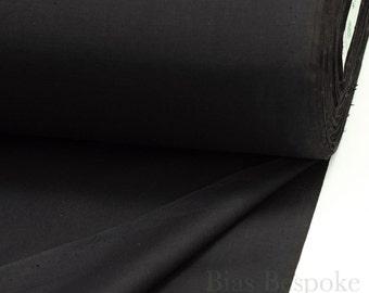 "Best Quality Italian Silesia Pocketing ""Podestà"", Black, By the Yard"