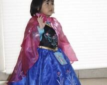 Halloween Costume Princess Anna Dress - Frozen Princess Anna Costume - Princess Anna Dress - Frozen Costume
