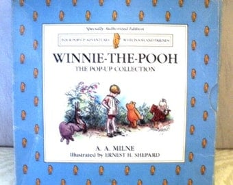 WINNIE the POOH, Box Set of 4, the Pop-Up Collection, Pooh and Friends, Eeyore, Tigger,  Pooh and Piglet, A A Milne, 1994 Special Edition