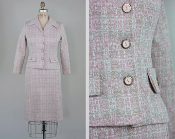 Vintage 60s Dress / 1960's Dress / Vintage Suit / Vintage Clothing / Vintage Dress / 60s Clothing / Pink Blazer / 1960s Jacket / Small S