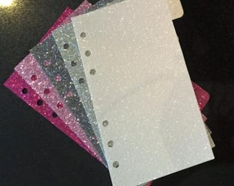 GLITTER Dividers - A5/A6/Personal/Pocket